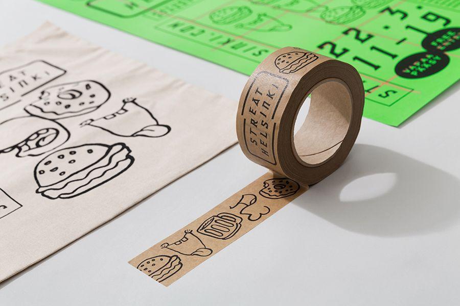 Brand Identity For Streat Helsinki By Kokoro Moi Bp O Design Tape Creative Bag Brand Packaging