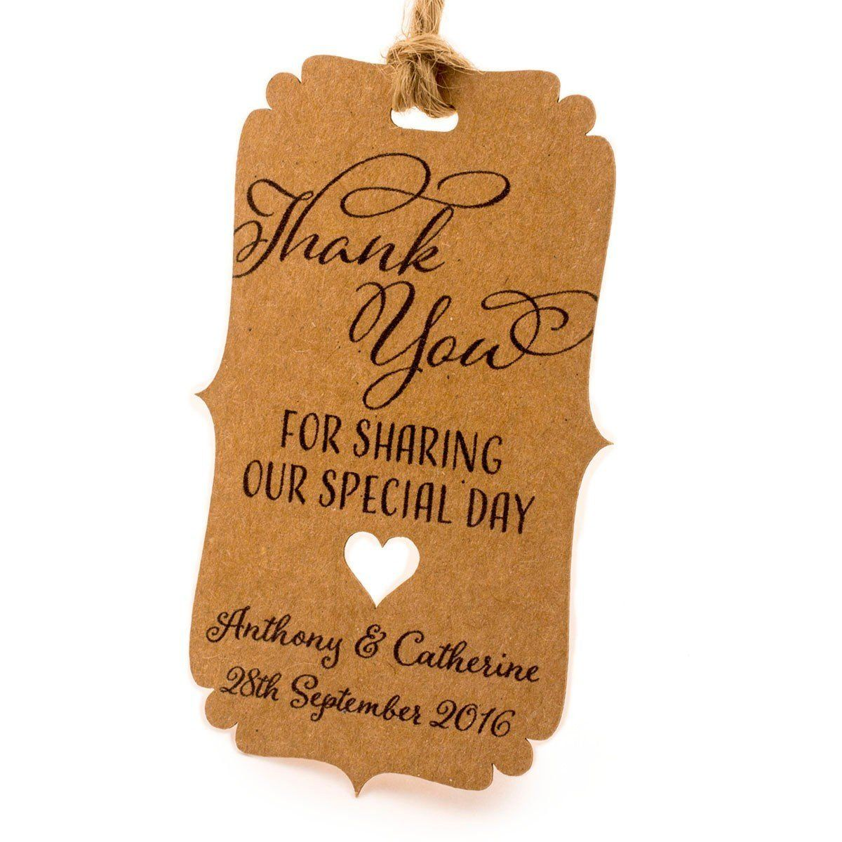 Thank You For Wedding Gift: Summer-Ray.com 50pcs Personalized Mini Bracket Kraft