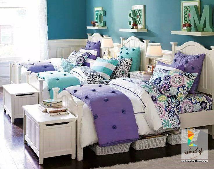 ألوان دهانات غرف نوم بنات كبار بتصميمات روعه لوكشين ديزين نت Shared Bedroom Girls Bedroom Furniture Teenage Bedroom