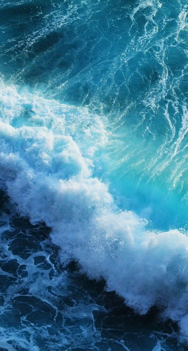 Ocean Waves Iphone Wallpaper With Images Iphone 6 Wallpaper