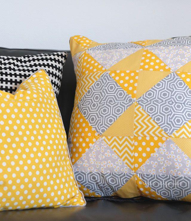ich habe ein neues patchwork kissen und ich habe alle meine fotos wieder kissen. Black Bedroom Furniture Sets. Home Design Ideas