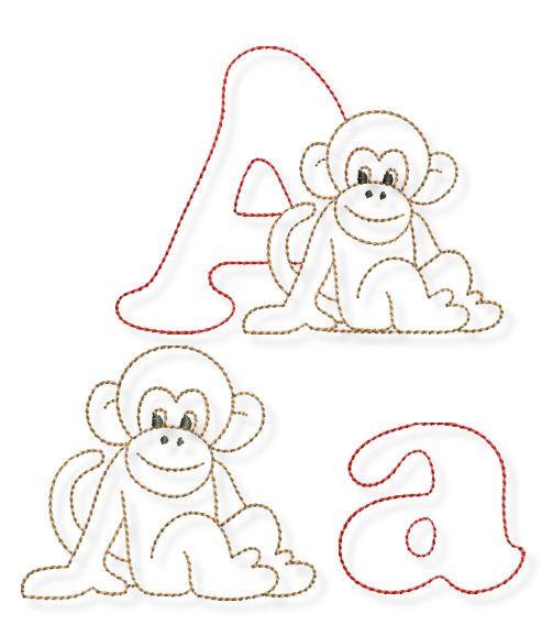 Tier-ABC- heute geht es los mit dem A Maschinenstickerei