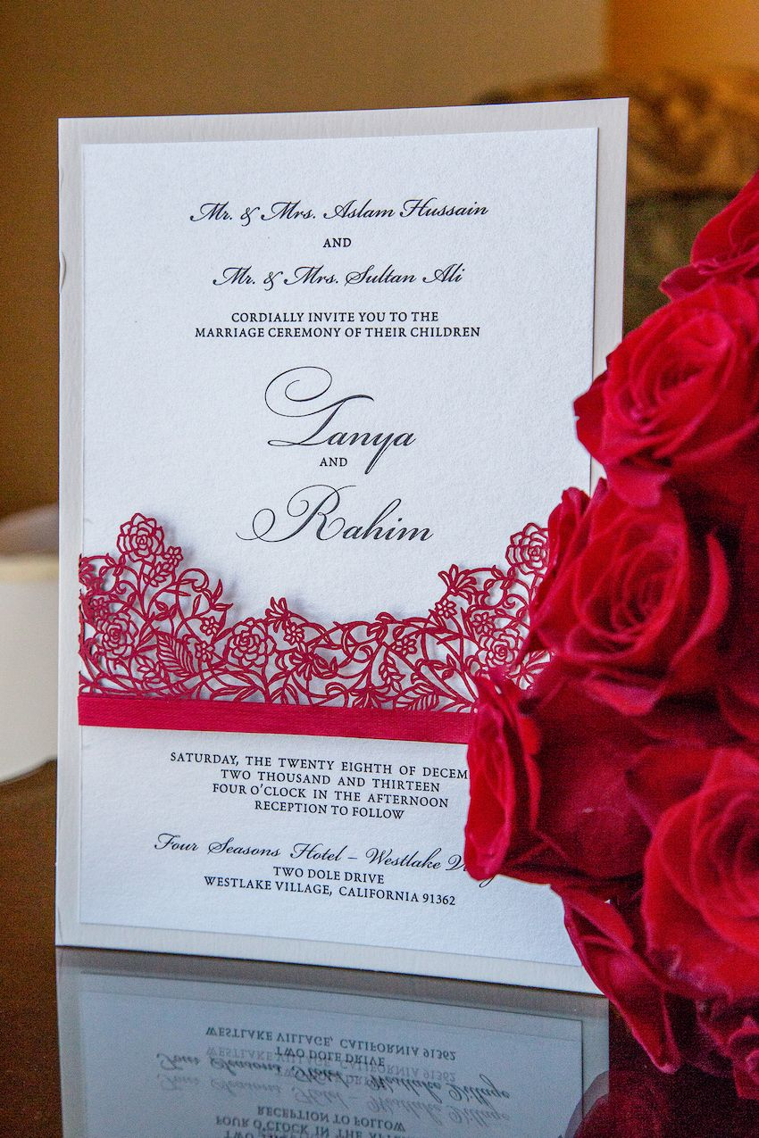Indian Wedding with Vibrant Colors and Gorgeous Red Roses | Red ...