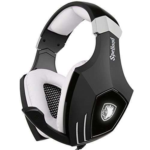 Gaming Headset PC Computer USB Ear Stereo Heaphones Microphone Volume LED Light #Sades