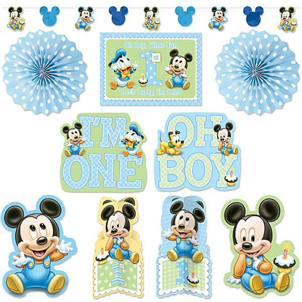Mickey Mouse 1st Birthday Room Decorating Kit (10 Pcs