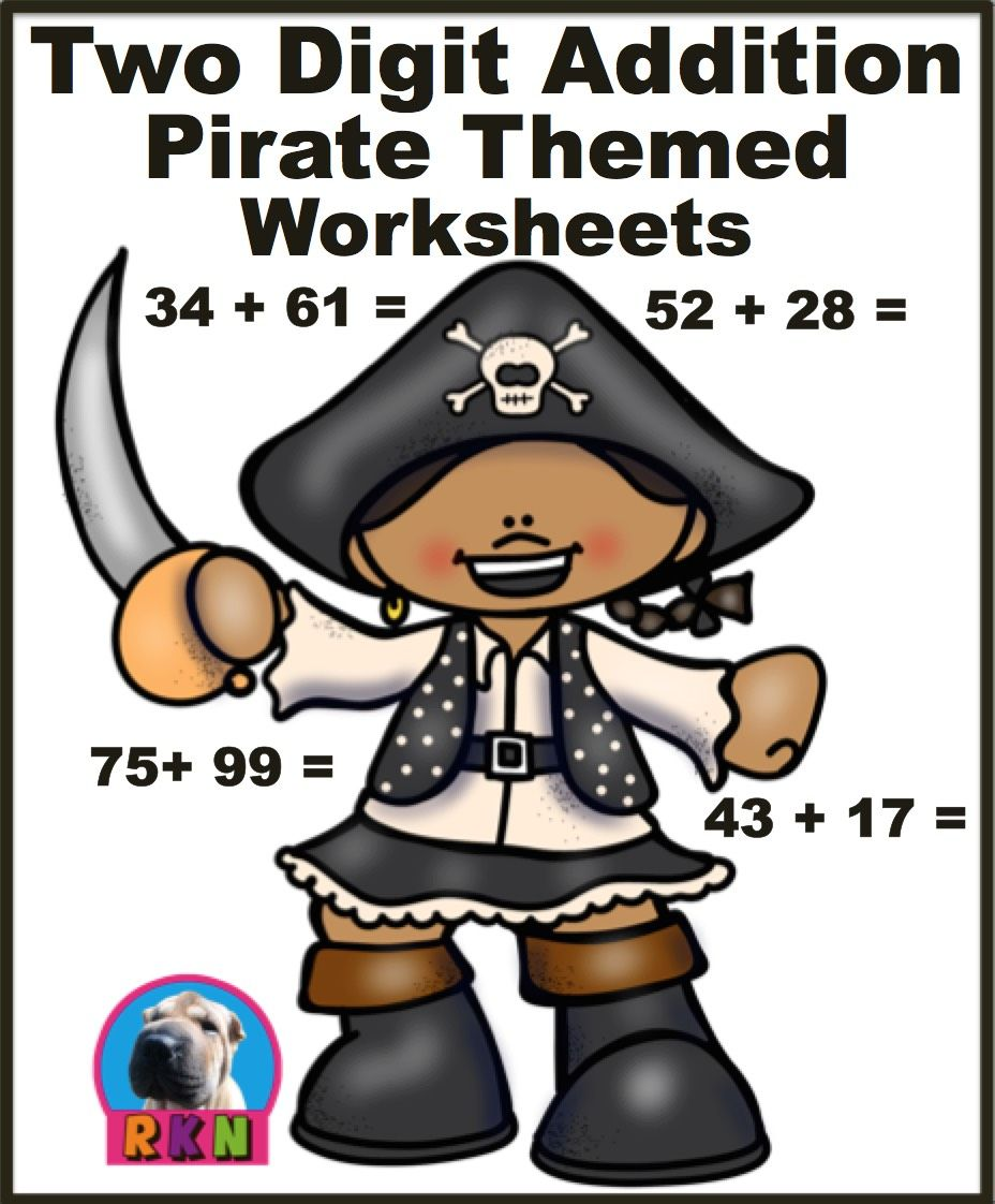 There Are 15 Pages Each Page Has 20 Problems Divided Into 2 Columns There Are 3 Pages Without Regroupin Kids Math Worksheets Math For Kids Pirate Theme [ 1122 x 928 Pixel ]