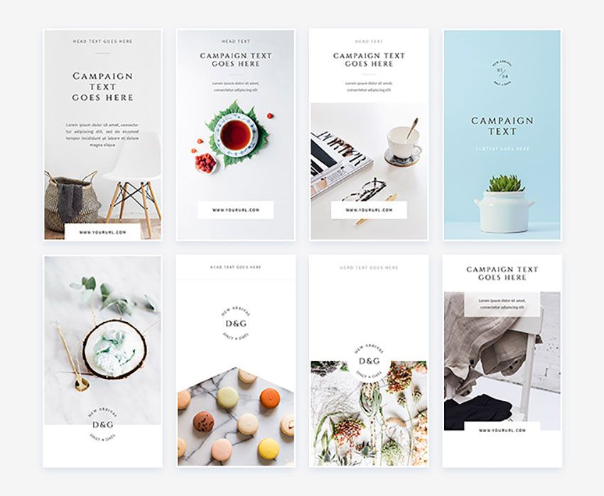 Free White Instagram Stories Pack Psd Template Free Mockup Free Psd Free Instagram