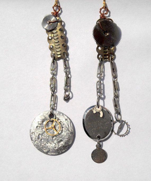 Steampunk Watch Parts Earrings Pair Vintage by DesignbyTalarico, $21.00