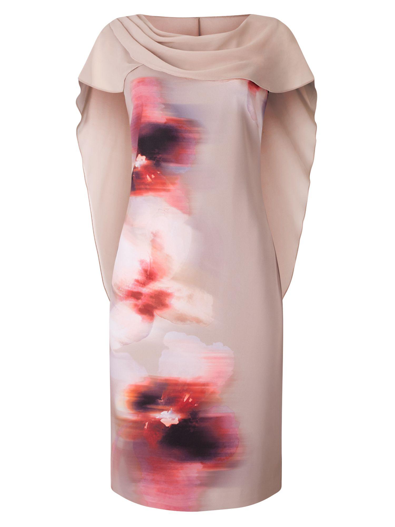 Shop & Jacques Vert & PRINTED DRAPE CAPE DRESS at http://www.jacques ...