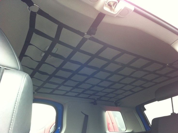 interior roof cargo net cleaver   store stuff  road trips shopping trips camping
