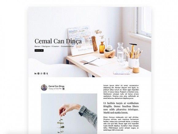 free Landing page design template