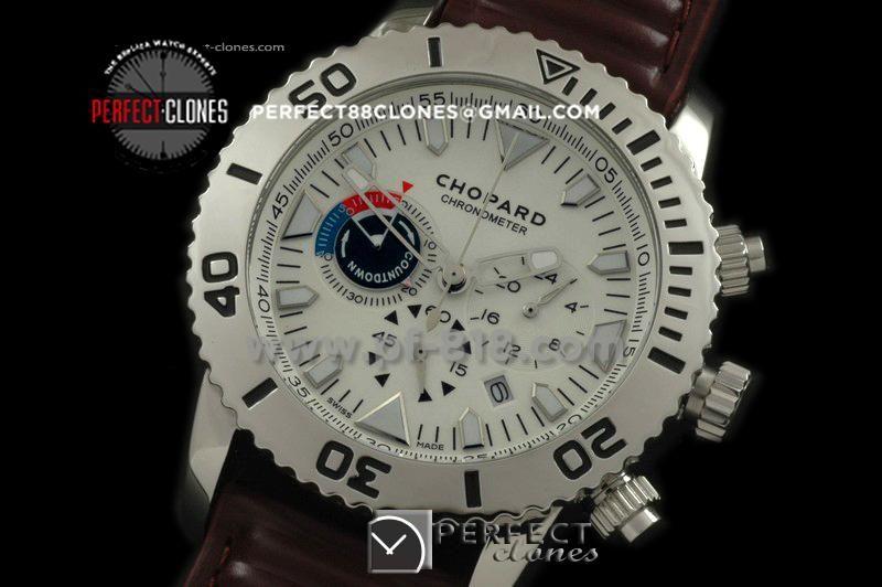 CPRC10051 Classic Racing Chrono SS/LE White Jap Quartz Chrono