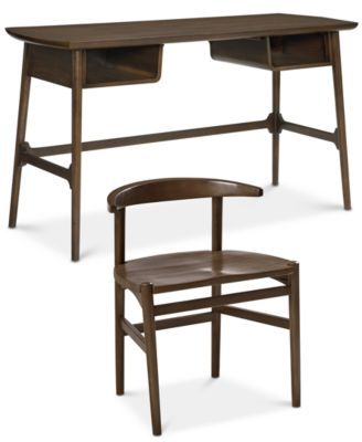 Hirono Home Office Furniture 2 Pc Set Desk And Chair