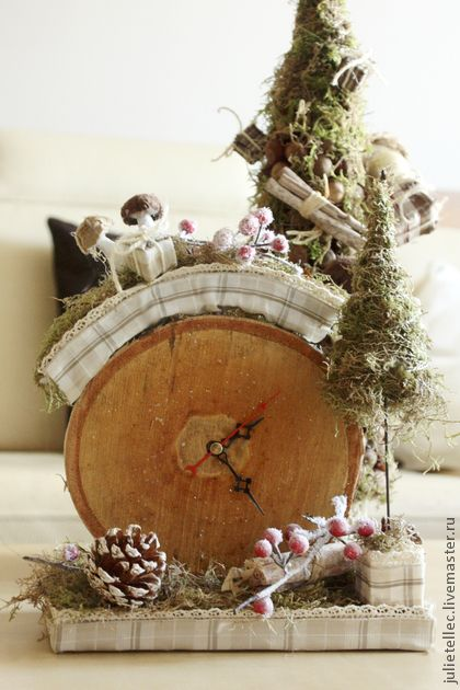 """Новогодние часы """"Зимнее время Прованса"""""""