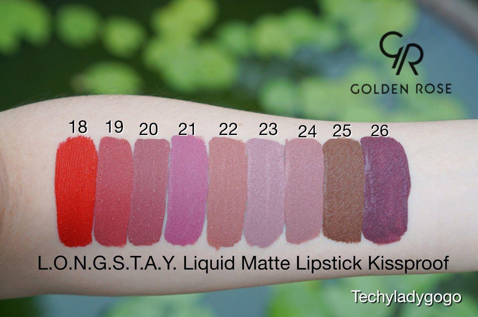 Golden Rose Longstay Liquid Matte Lipstick Kissproof 9 สใหม เบอร