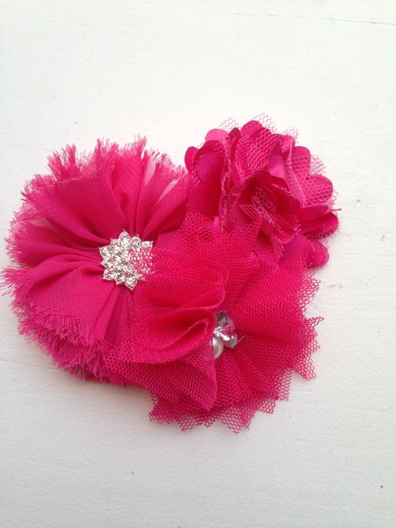 Hot Pink Hair Clip Fuchsia Hair Clip Flower Girl Gift Girl