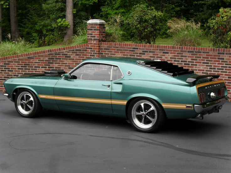 1969 Mustang Green And Gold Mach 1 Fastback Coupe Classic Cars