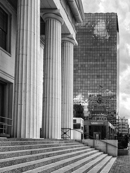 Window reflections downtown st louis black and white photography forum