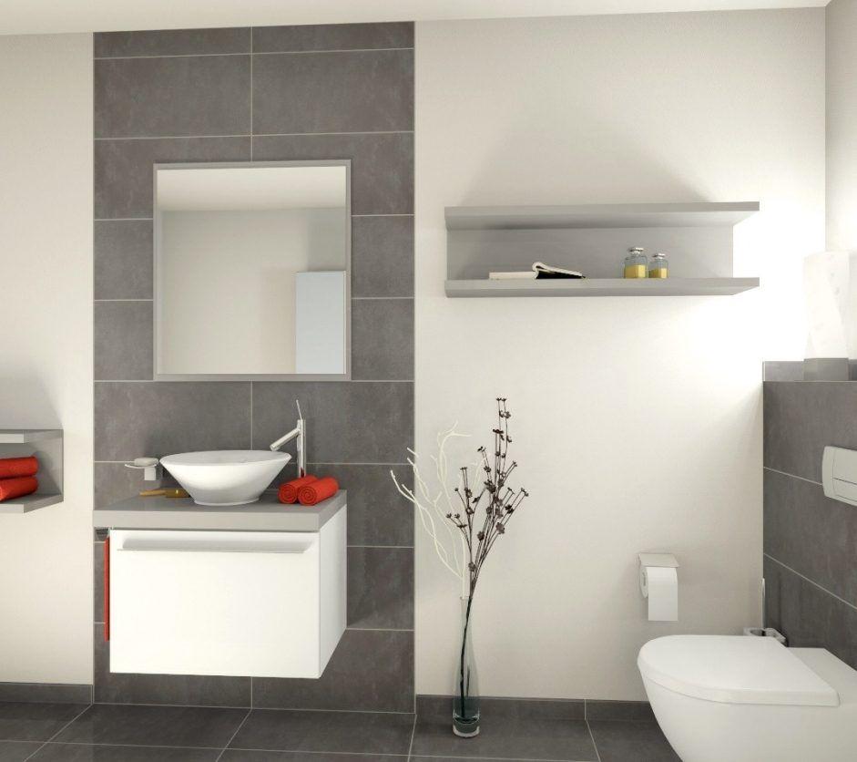 badezimmer grauer boden weie wand  wohnzimmer wandgestaltung streichen  Badezimmer fliesen