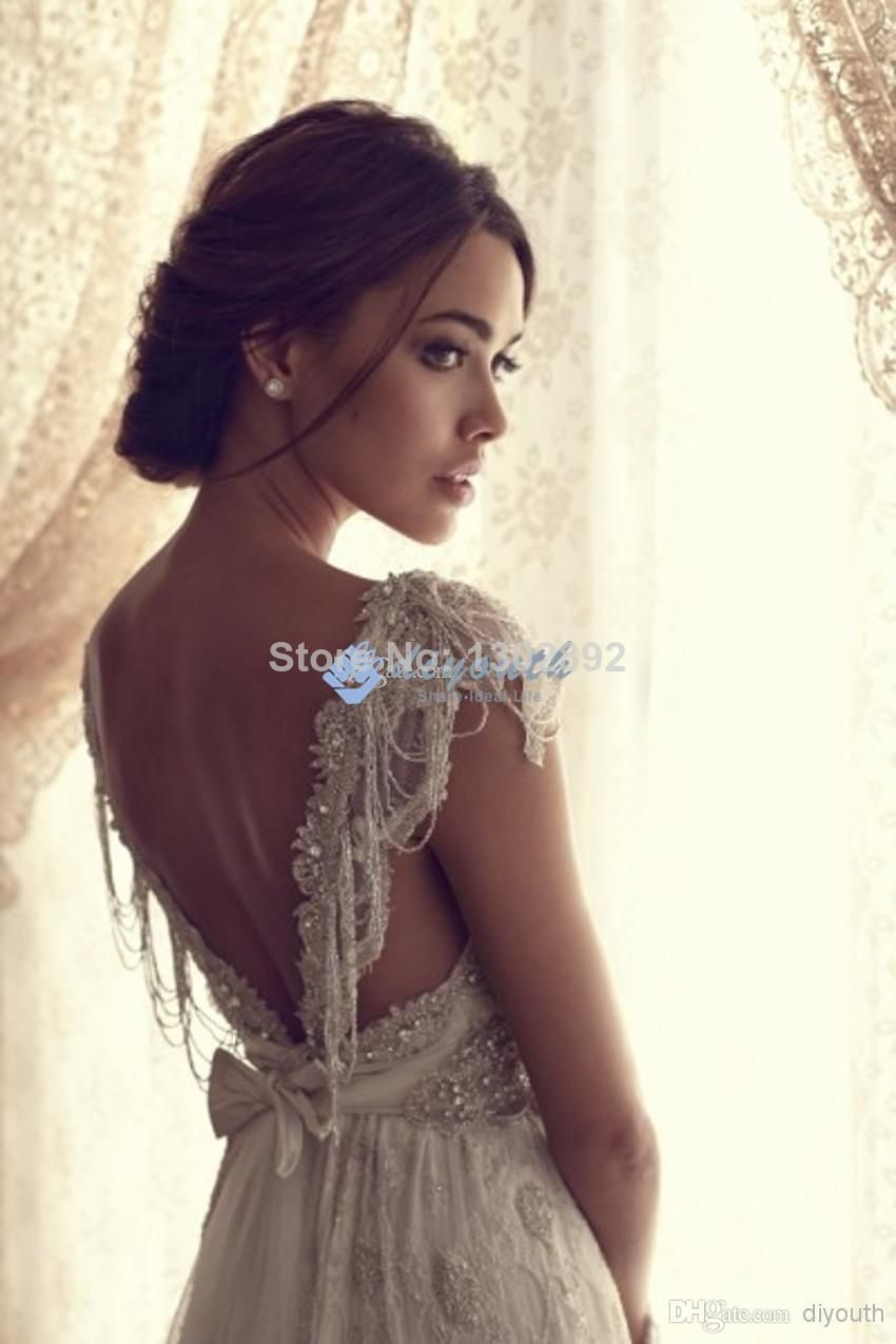 Lace arm wedding dress   New Arrival Beading Sweetheart Cap Sleeves Wedding Dress Lace