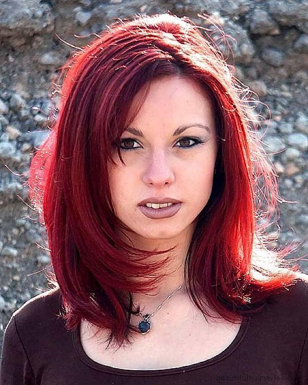 Medium Length Dark Red Hairstyles hair ideas
