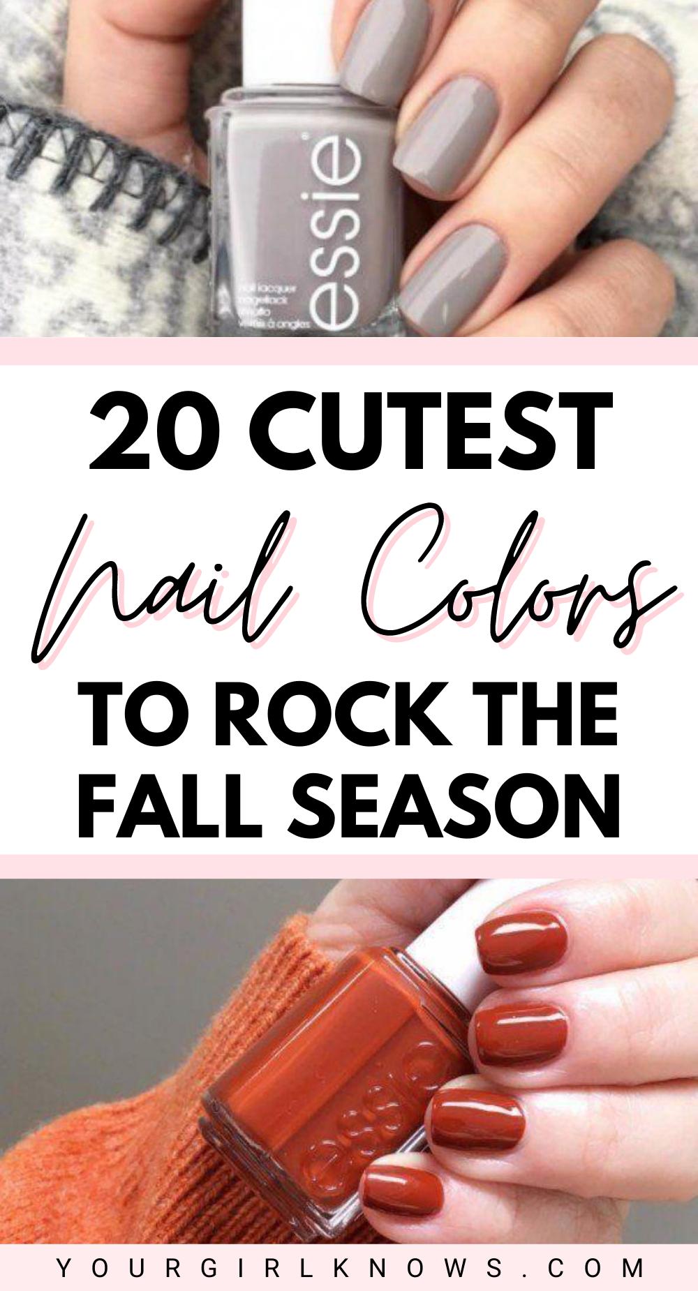 20 Best Fall Nail Colors 2020 Fall Nail Colors Acrylic Fall Nail Colors Gel Polish Ygk In 2020 Fall Gel Nails Nail Polish Colors Fall Cute Nail Colors