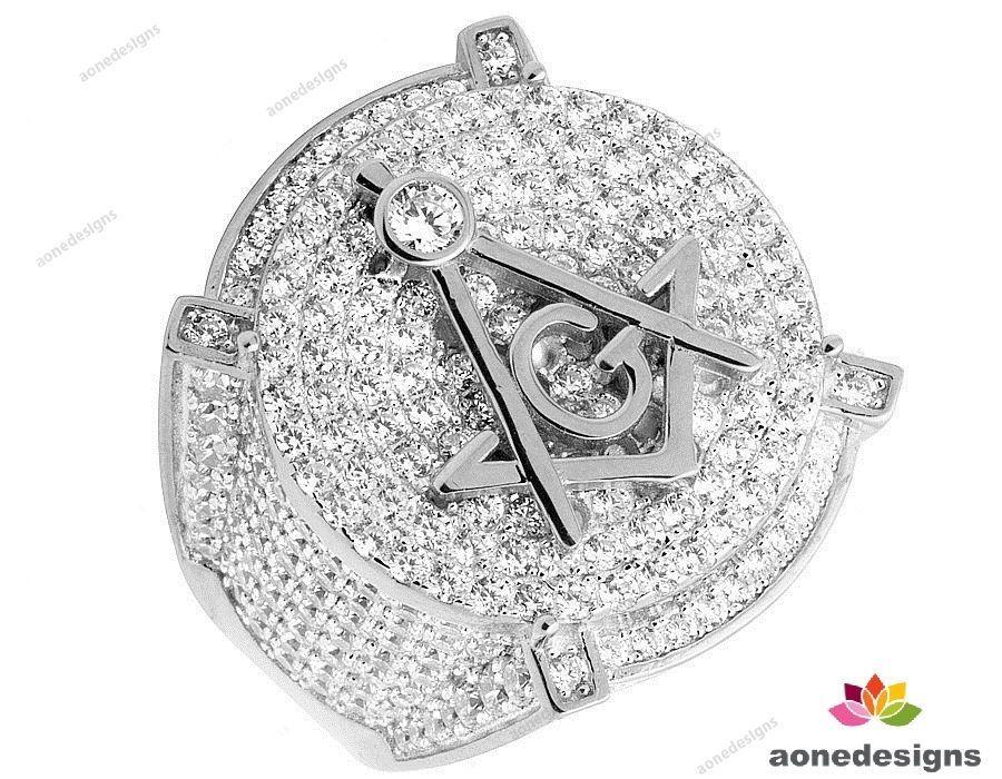 10k white gold 320 carat white diamond mens engagement
