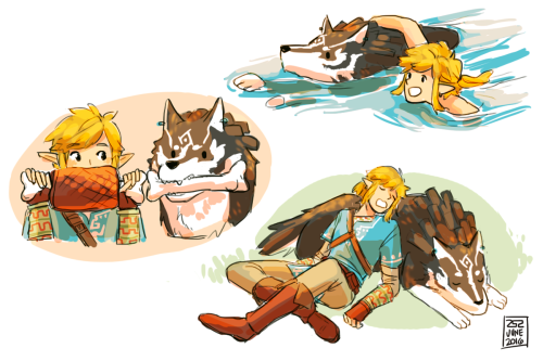 """sevenfivetwo: """" I'm still not over wolf link in the breath of the wild,,, two links in one zelda game going on an adventure together…am I dreaming """""""