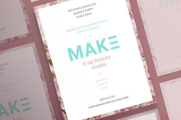posters make it up beauty by amber graphics on creativemarket