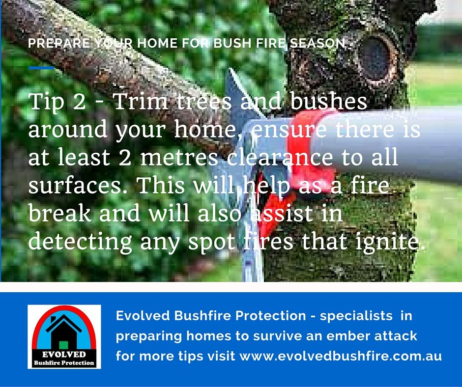Trimming Trees Back Around Your Home Creates A Effective Fire Break. Fire  Safety