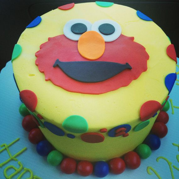 2 D Edible Elmo Cake Topper Party Time In 2019 Elmo Cake