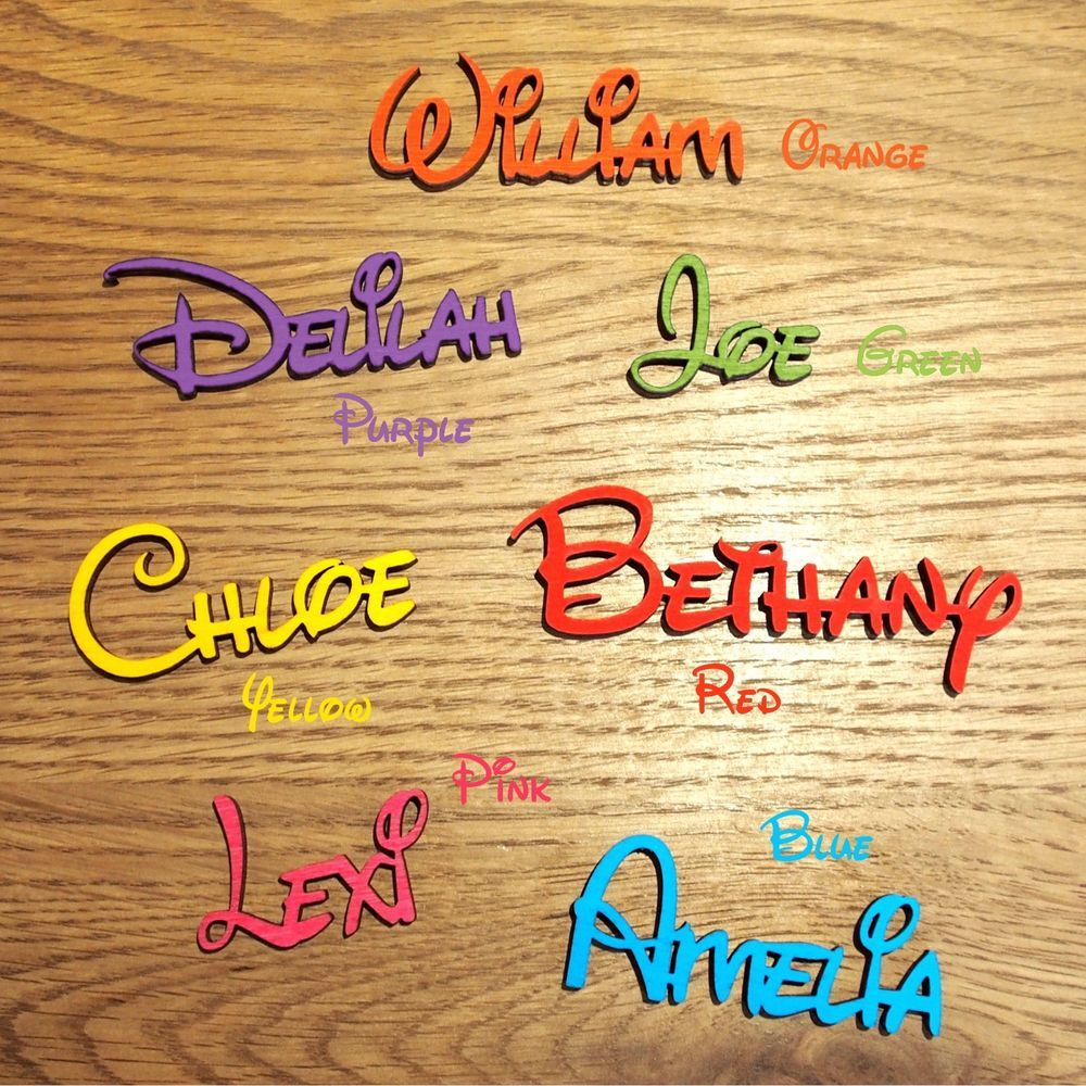 DISNEY Wooden Personalised Name Plaques Words/Letters Wall/Door Art ...