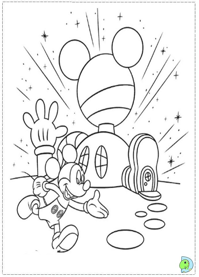 Mickey Mouse Clubhouse Coloring page- DinoKids.org | Kid Craft Ideas ...