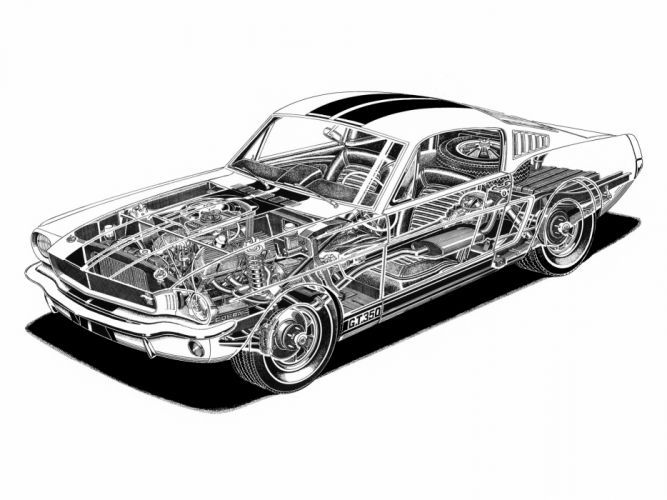 1965 Shelby GT350 ford mustang classic muscle interior engine engines wallpaper …
