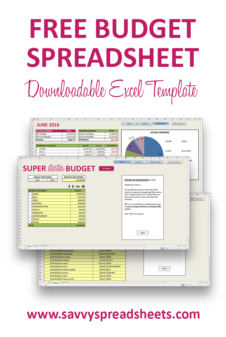 Free Budget Template for Excel | Excel budget template and System ...
