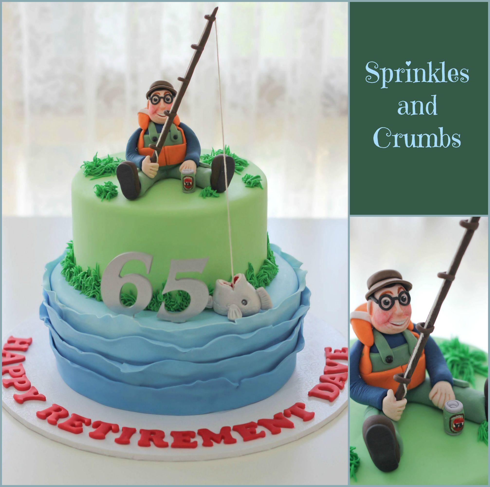 Fisherman cake for men Custom cakes by Cassandra Pinterest
