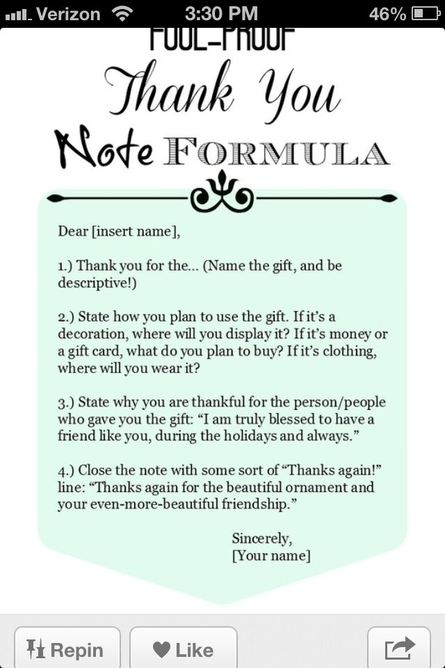 How To Write A ThankYou Note  Advice Miss Manners