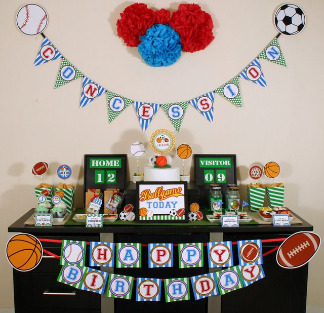 All Sports Birthday Party Birthday Party Ideas