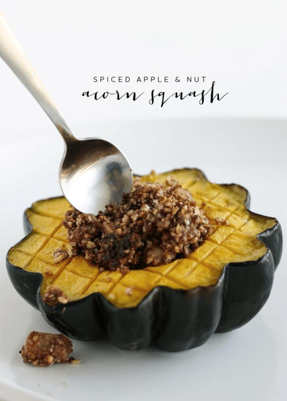 Whole30 Apple Stuffed Acorn Squash Recipe Acorn Squash Recipes