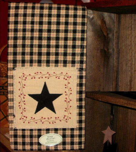 Star Patch Homespun Towel By Park Designs Kitchen Country Linens