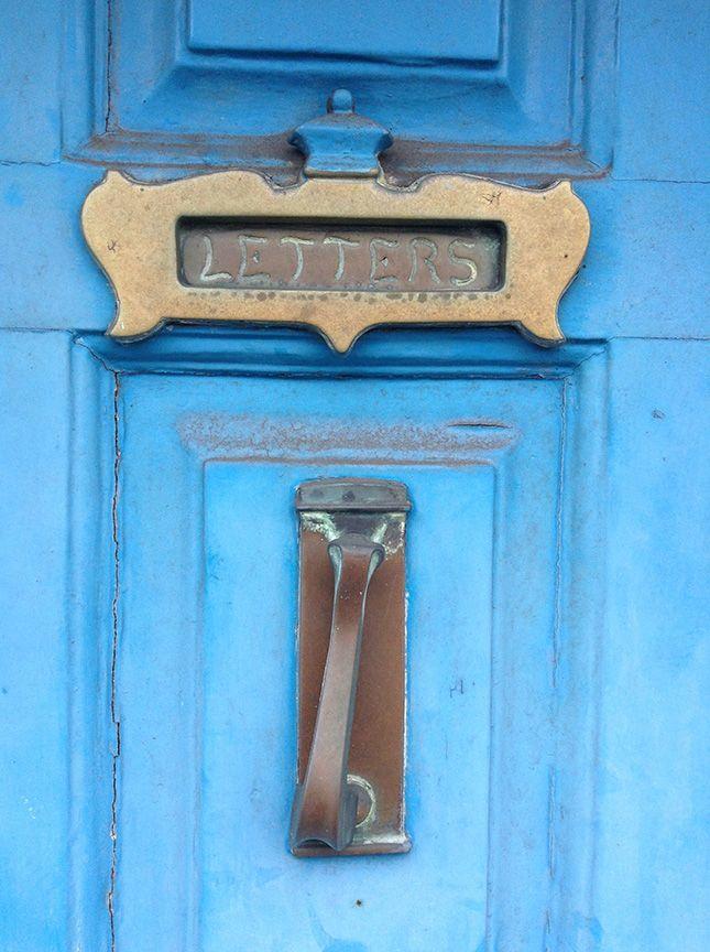 Colourful door in the Temple Bar area of Dublin, Ireland.