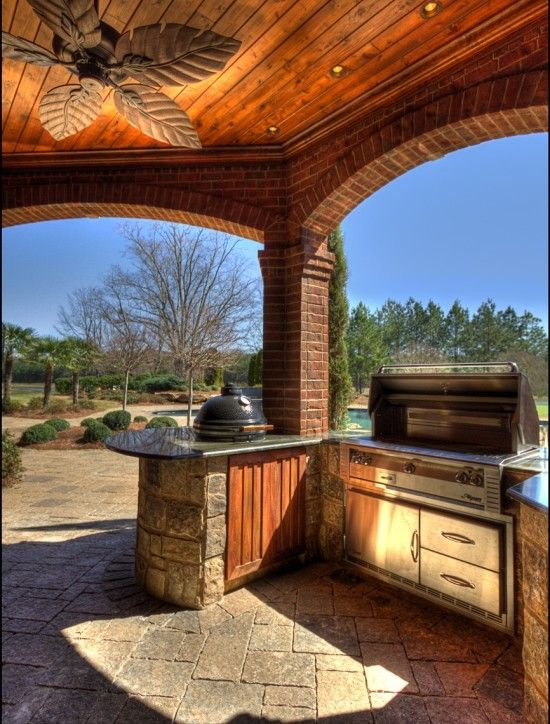 outdoor kitchen alfresco and kamado joe beautiful outdoor cooking space please stop by www on outdoor kitchen id=98585
