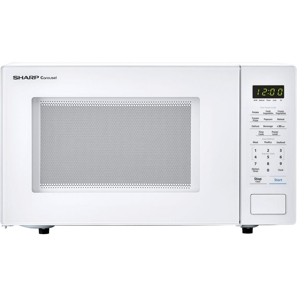 Sharp Carousel 1 1 Cu Ft Countertop Microwave In White