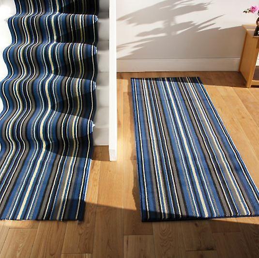 Best Navy Blue Stripe Stair Carpet Runner Lima Fruugo Stair 400 x 300