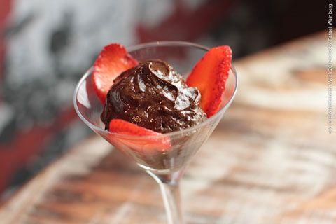Dibaco restaurante carnes e vinhos (jantar)    Mousse de chocolate