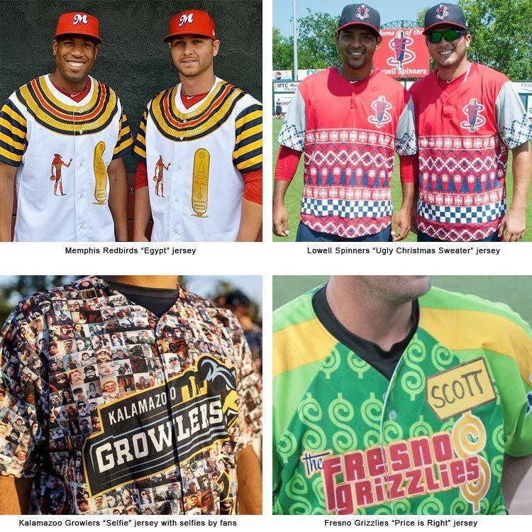 best quality 8e819 02d27 A collection of wacky minor league baseball jerseys | Art ...