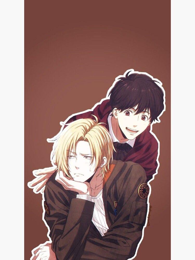 ash and eiji banana anime Sticker