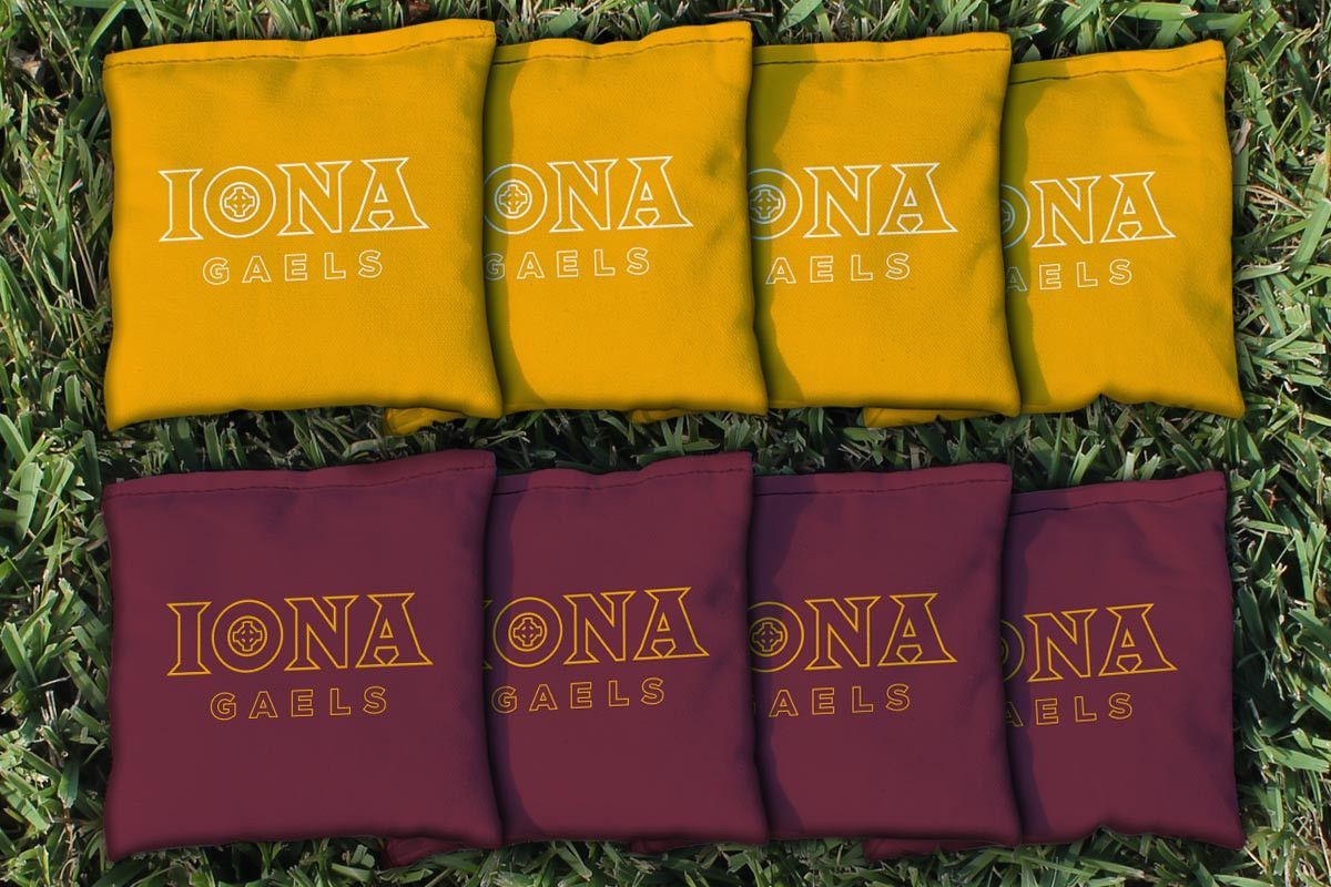 Iona College Gaels Team Logo Cornhole Replacement Bag Set