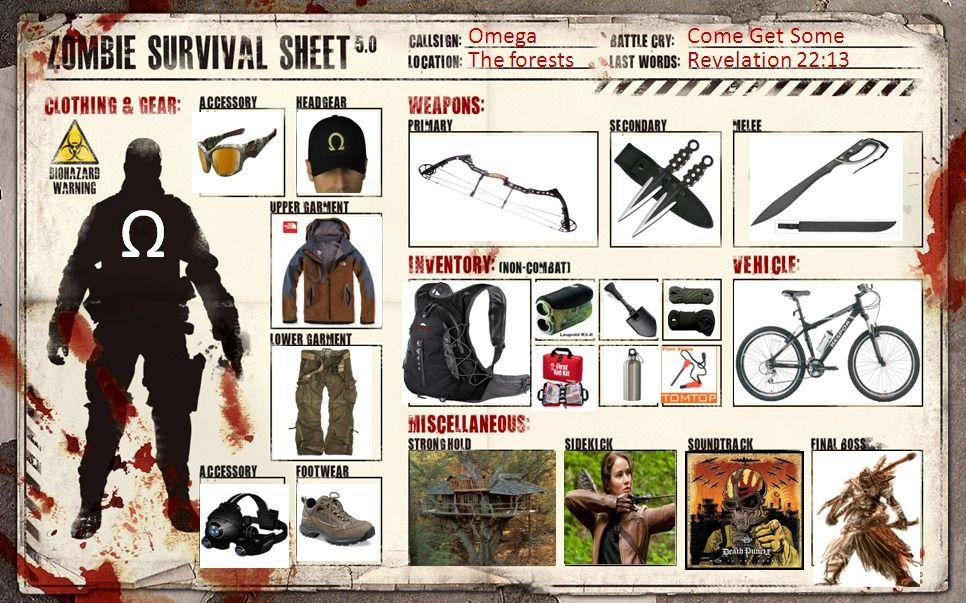 A Zombie Survival Chart Zombie Survival Zombie Apocalypse Team