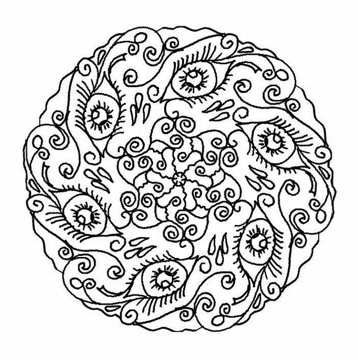 detailed sea mandalas to print and color  freemandalacoloring